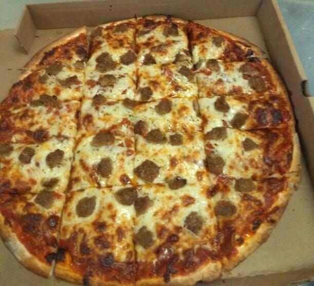 Sausage Mushroom Pepperoni Pizza