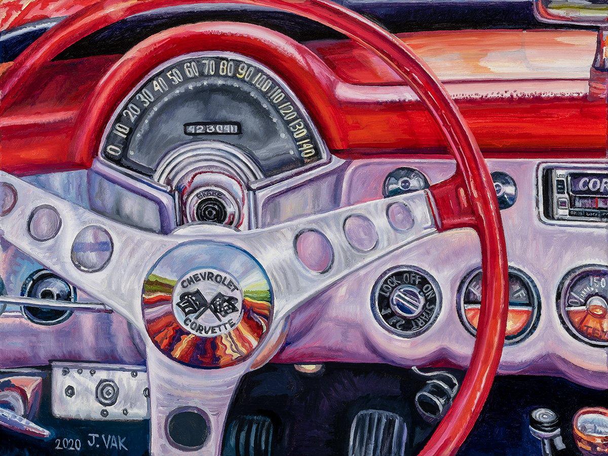 1957 Chevrolet Interior 20 X 24 Original Oil             $1200              2020