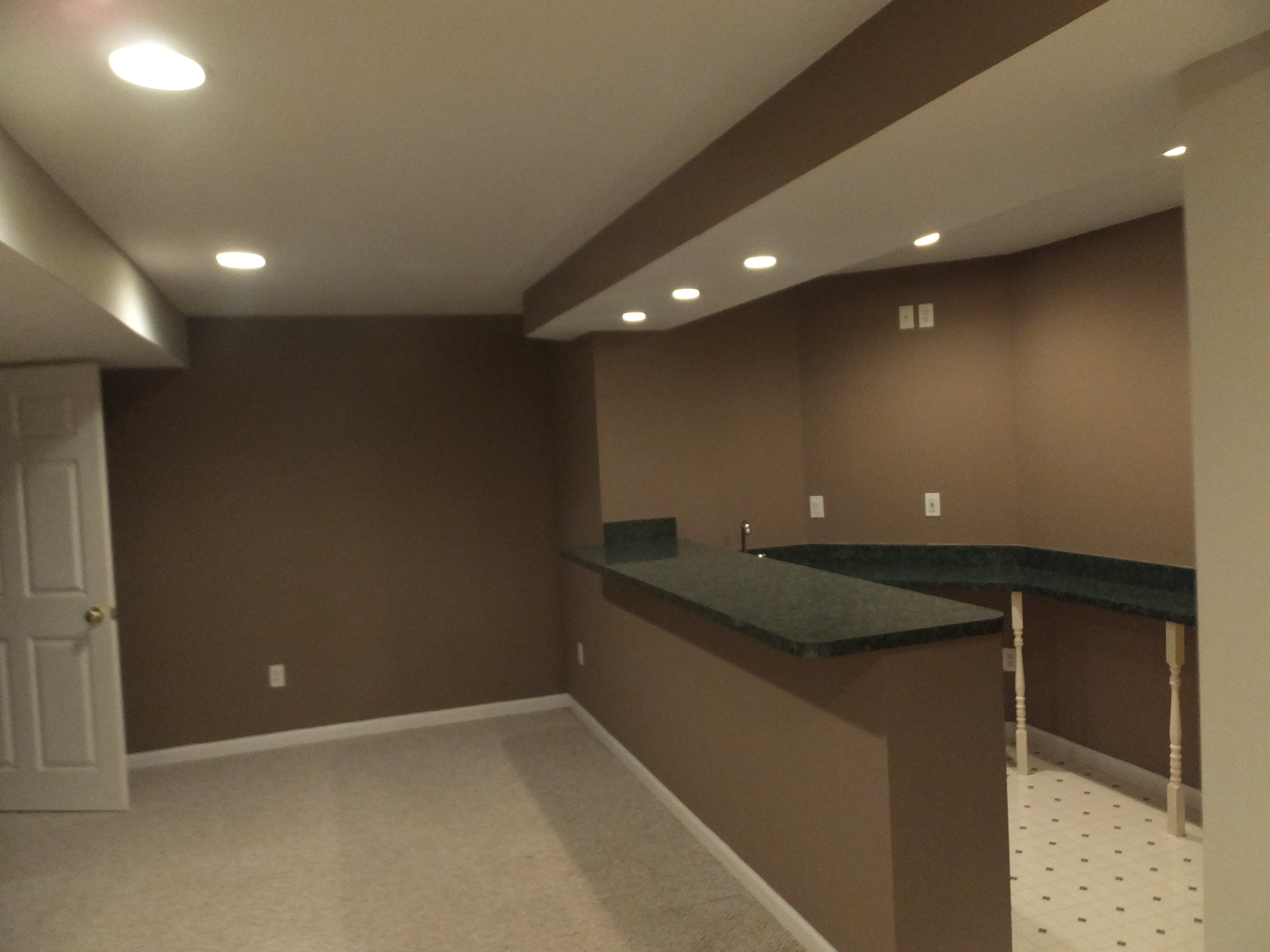 Interior Basement Bar