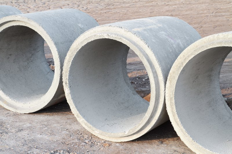 Concrete drainage pipes