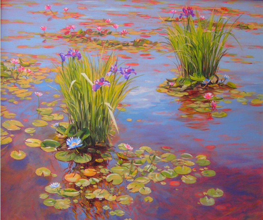 Sunrise Iris 36x36