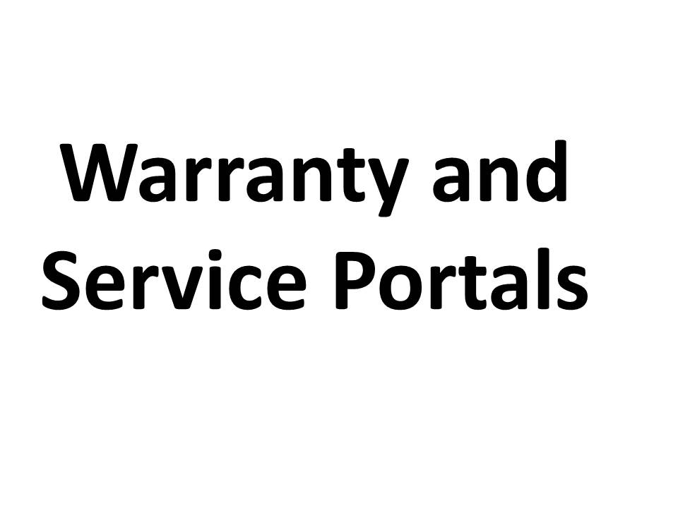 Warranty and Service Portals