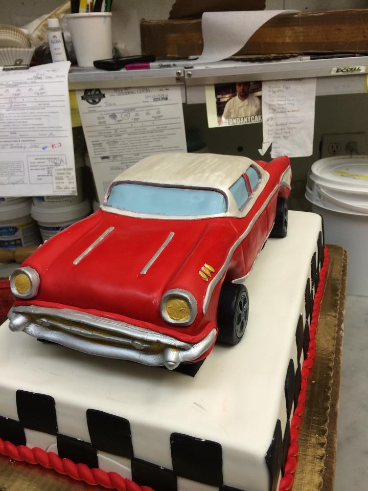 Front View 1957 Chevy Cake