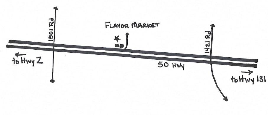 Location Map of Flavor Market