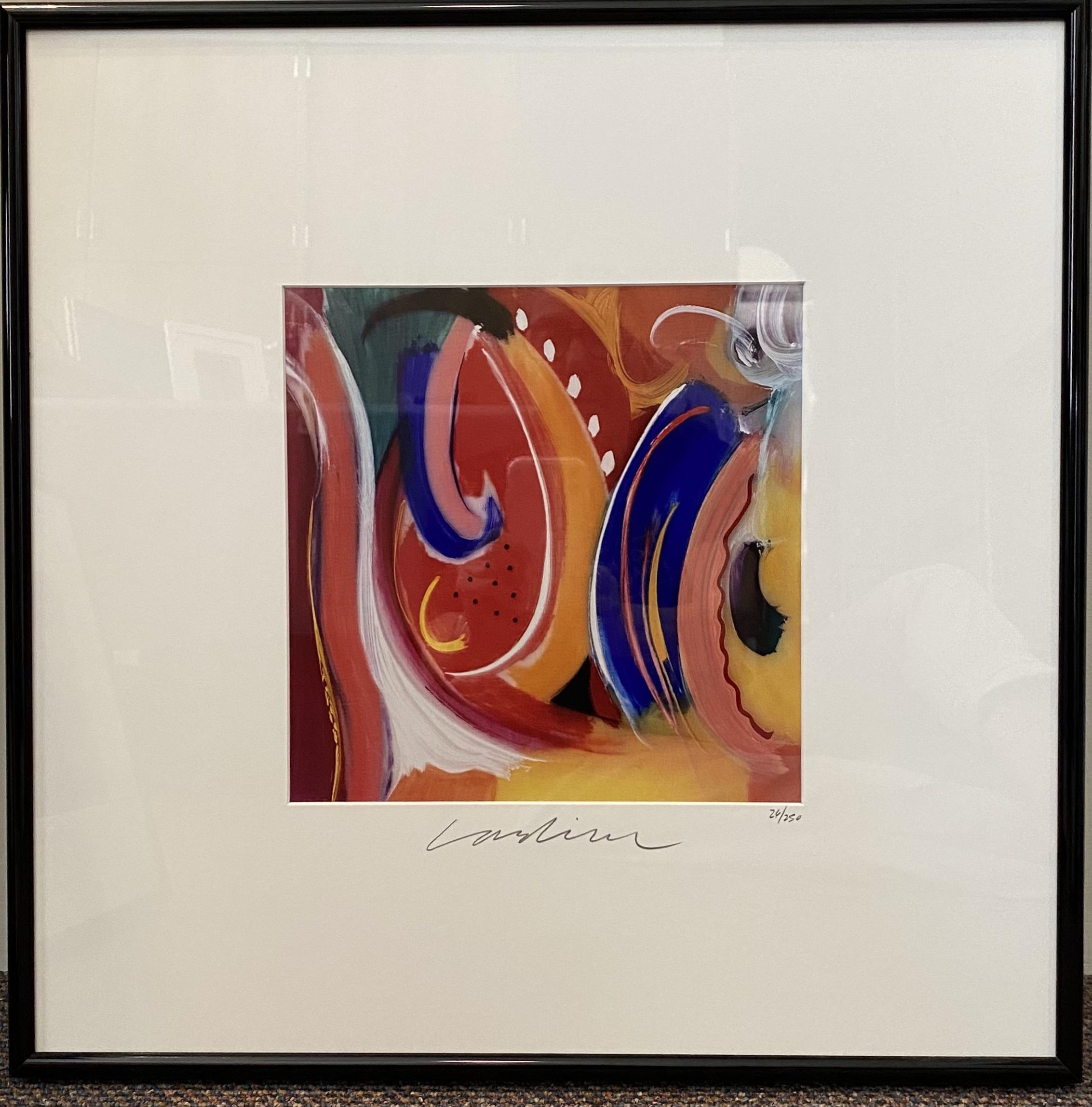 "Geoffrey Lardiere Summer Breeze Lithograph 10"" X 10"" $225."
