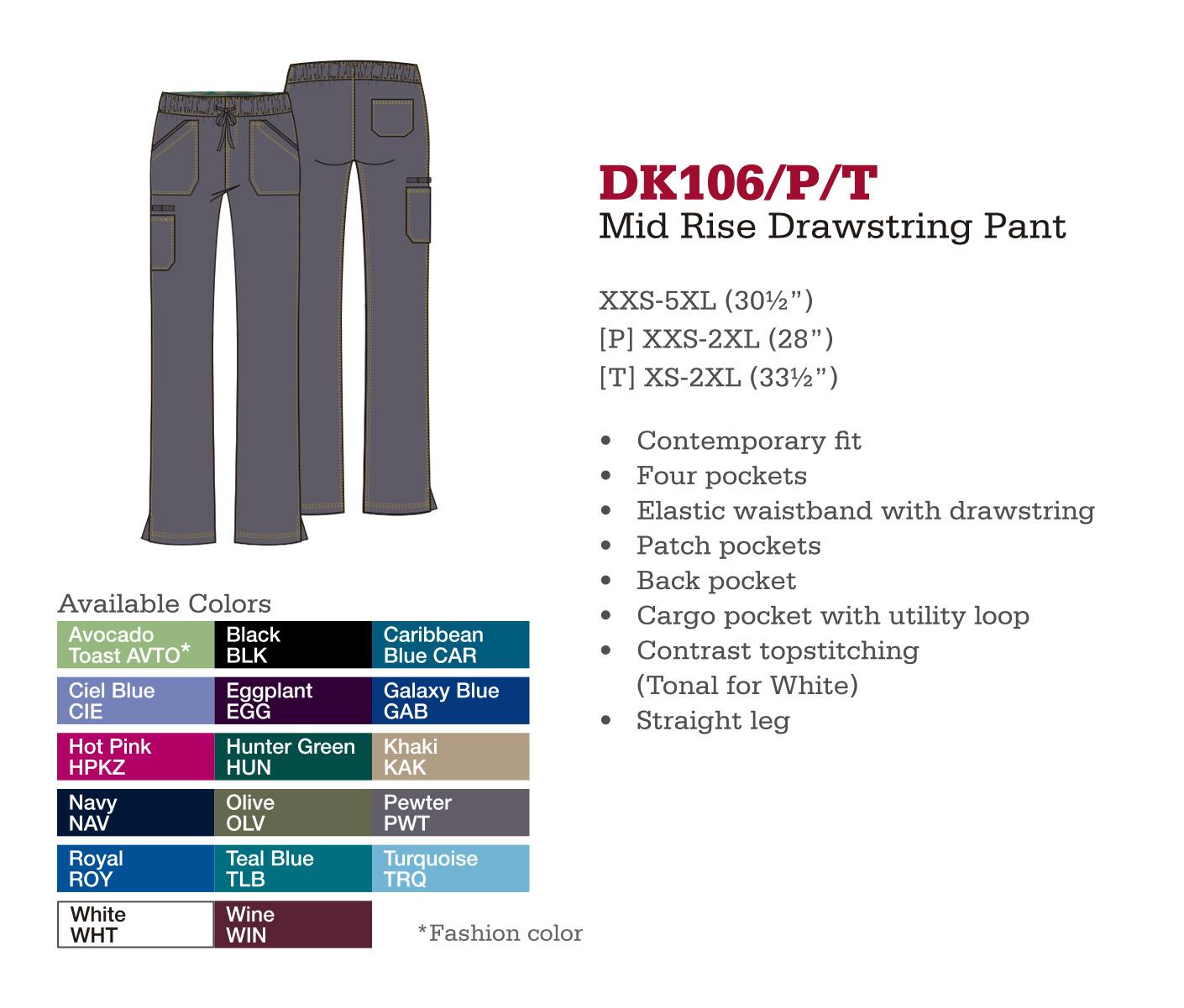 Pantalón de Cordones a Medio Levantar. DK106/P/T.