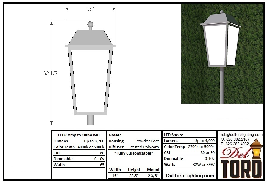 211L-Framed Lantern Post