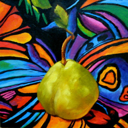 """Center Stage - 6""""x 6"""" Oil on Canvas Panel Sold"""