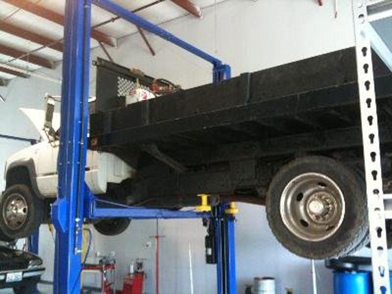 Truck on Lift