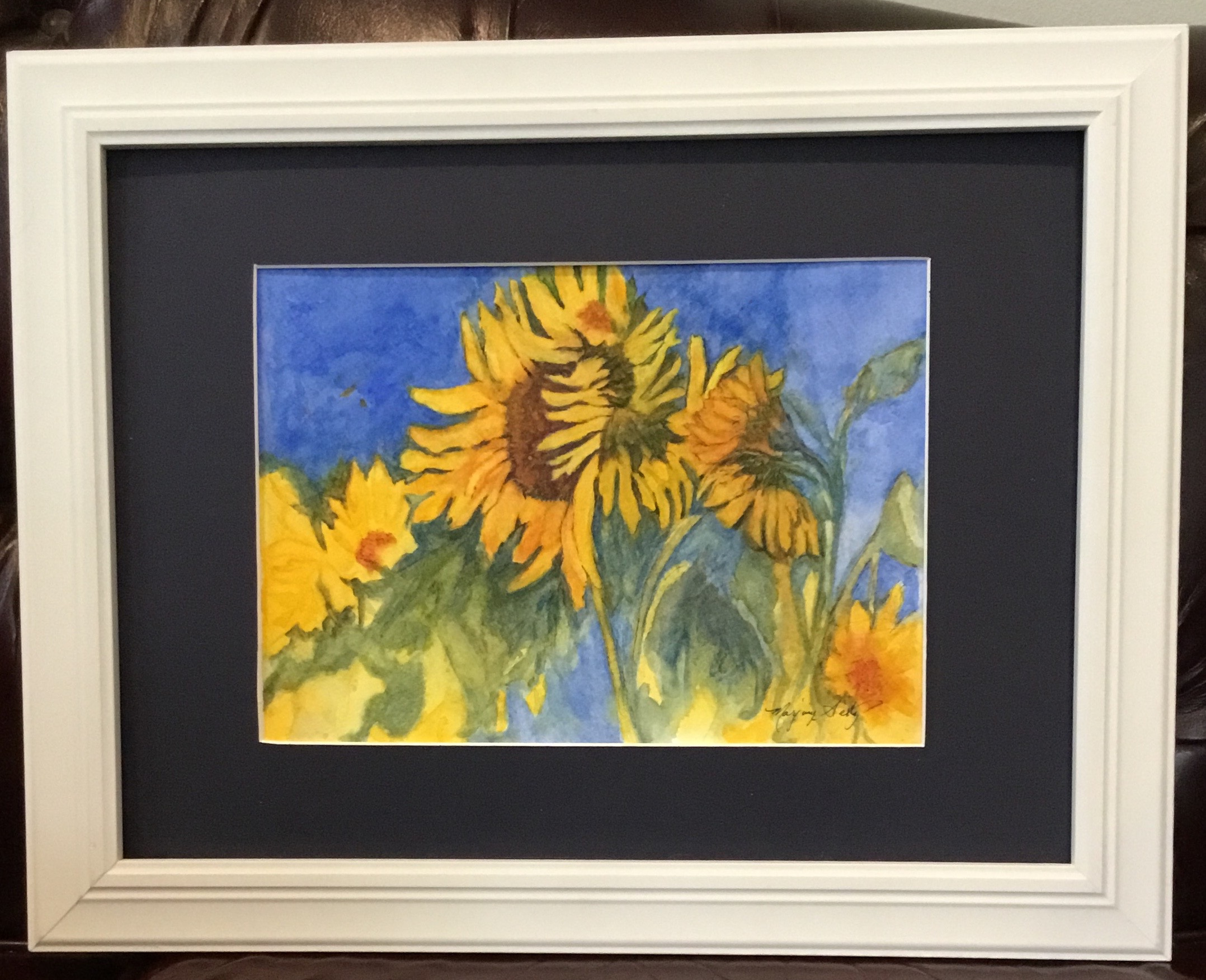 Sunflower Crazy Watercolor on paper 14.5 X 11.5 $175.