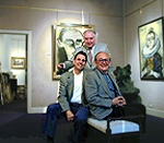 "Mr. David Klein: Expert & Author of ""The Works by Edouard Cortes"" (Right), Robert Rienzo, Expert on Bernard Buffet (Left), & Jean Zimmermann, an International Art Dealer. Bernard Buffet Exhibition 2001 -  GALERIE RIENZO"