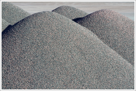 Abstract of gravel piles||||