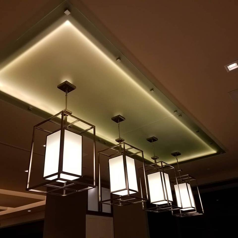 Custom Back-lit Ceiling Glass