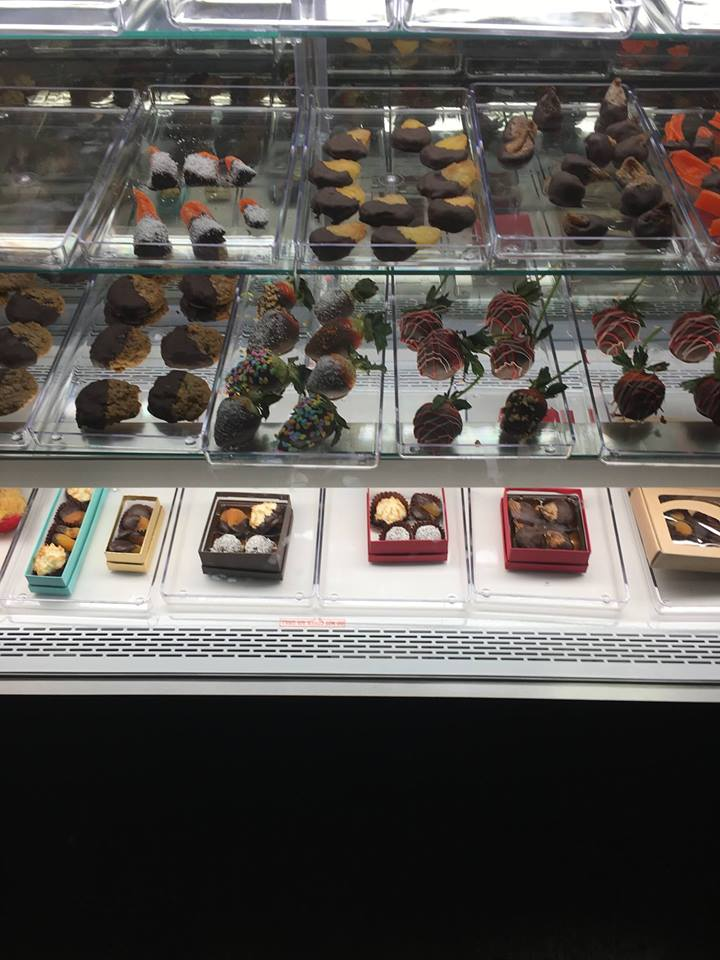 Assorted Chocolates on Display