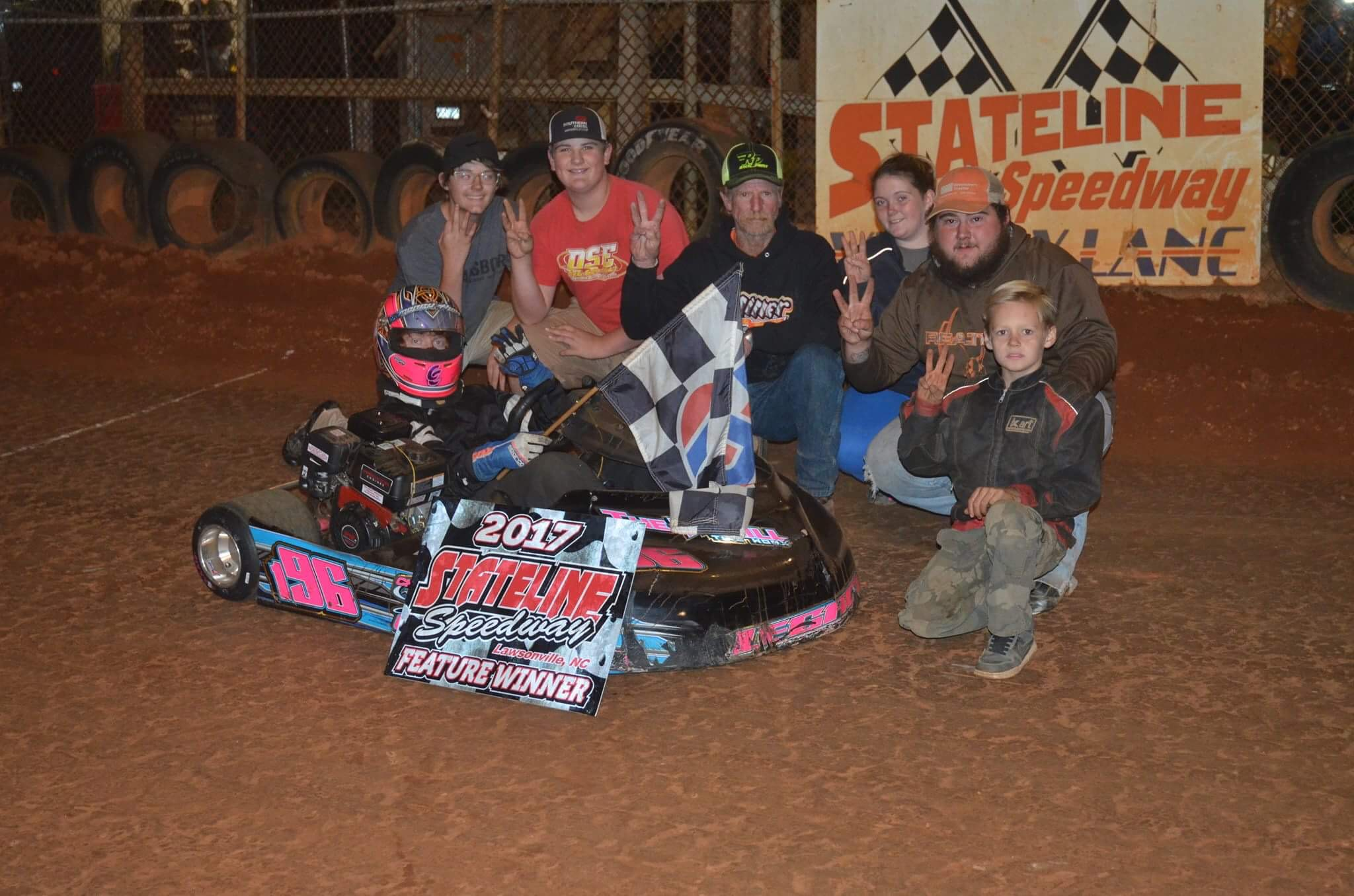 Caleb Clinard win at Stateline Speedway