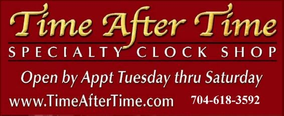 """""""Time After Time"""" Specialty Clock Shop"""