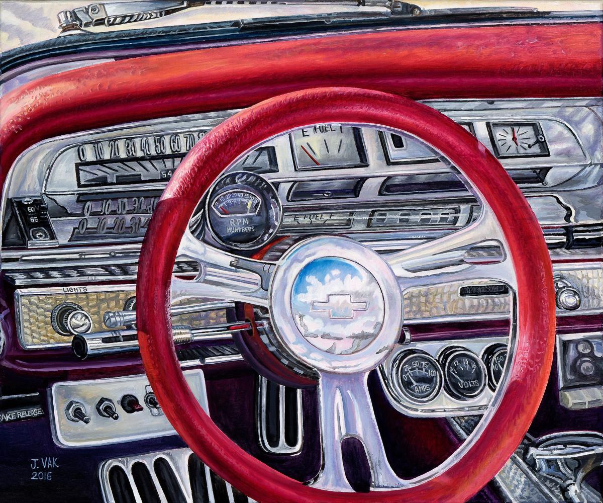 Chevrolet Impala Interior    20 X 24 Original Oil            $3500             2016