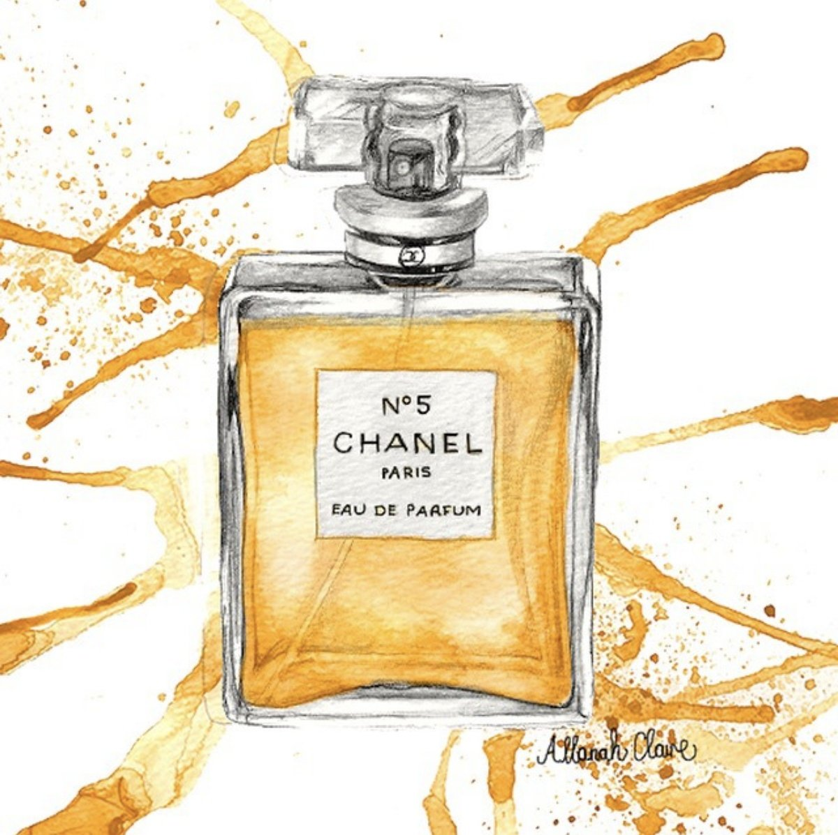Chanel No5 Perfume Splash, 2015.