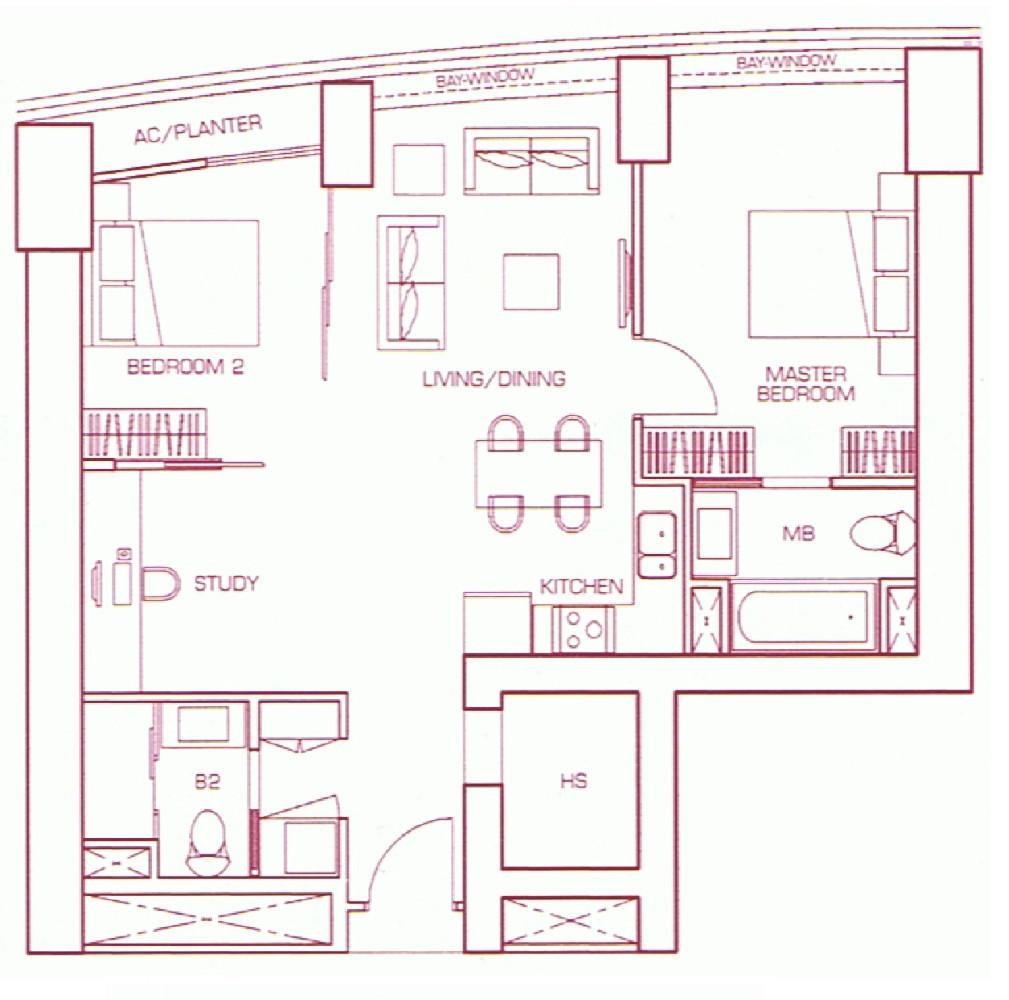 Two Bedroom Suite Type C