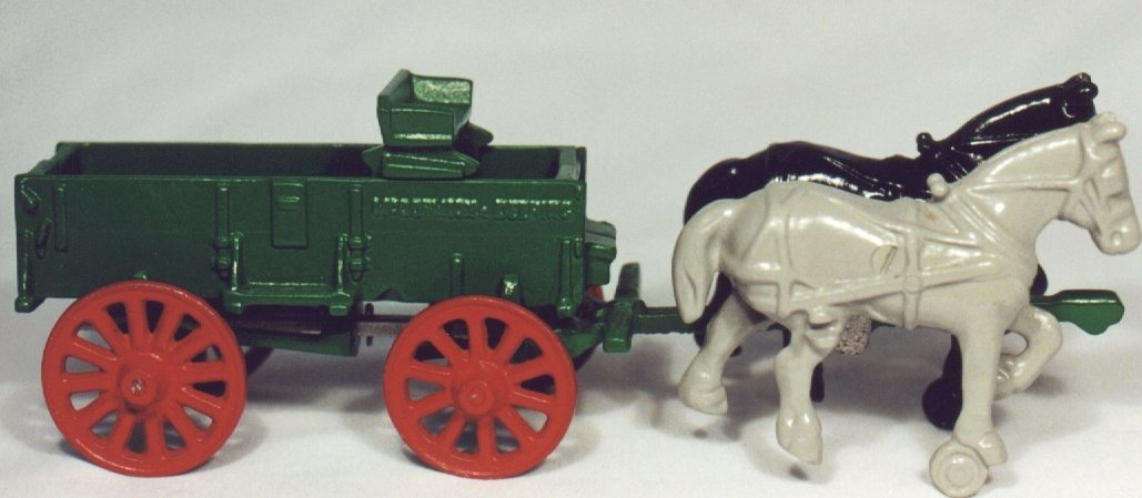 Box Wagon and Horses