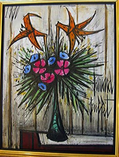 Lauren Rose - Lilliums In A Galle Vase