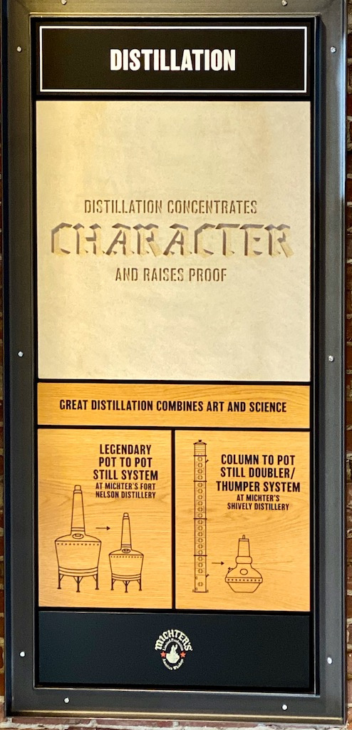 103 Barrel Entry Proof - There is ample signage at Michter's Distillery