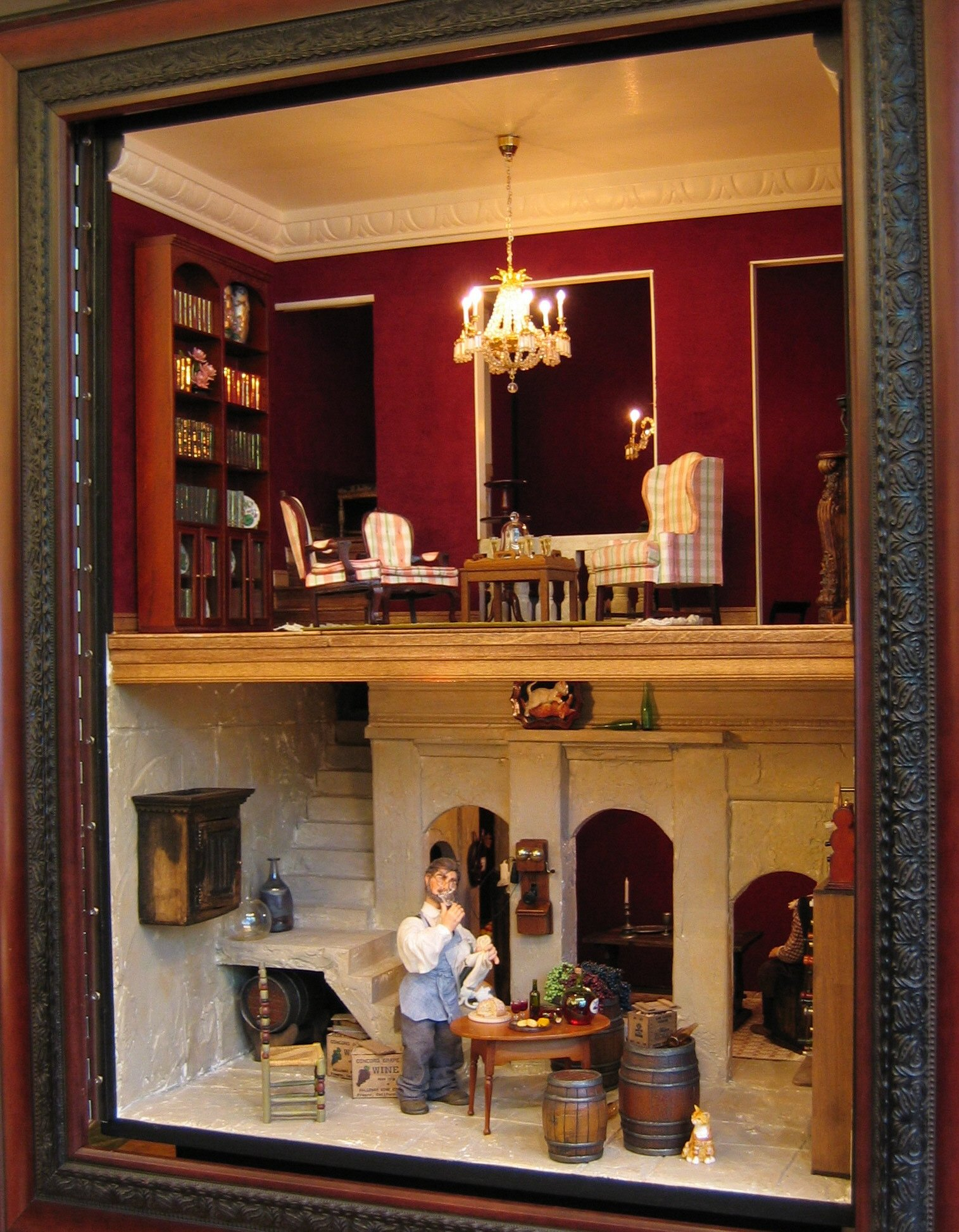 Parlor Above —  Wine Cellar Below