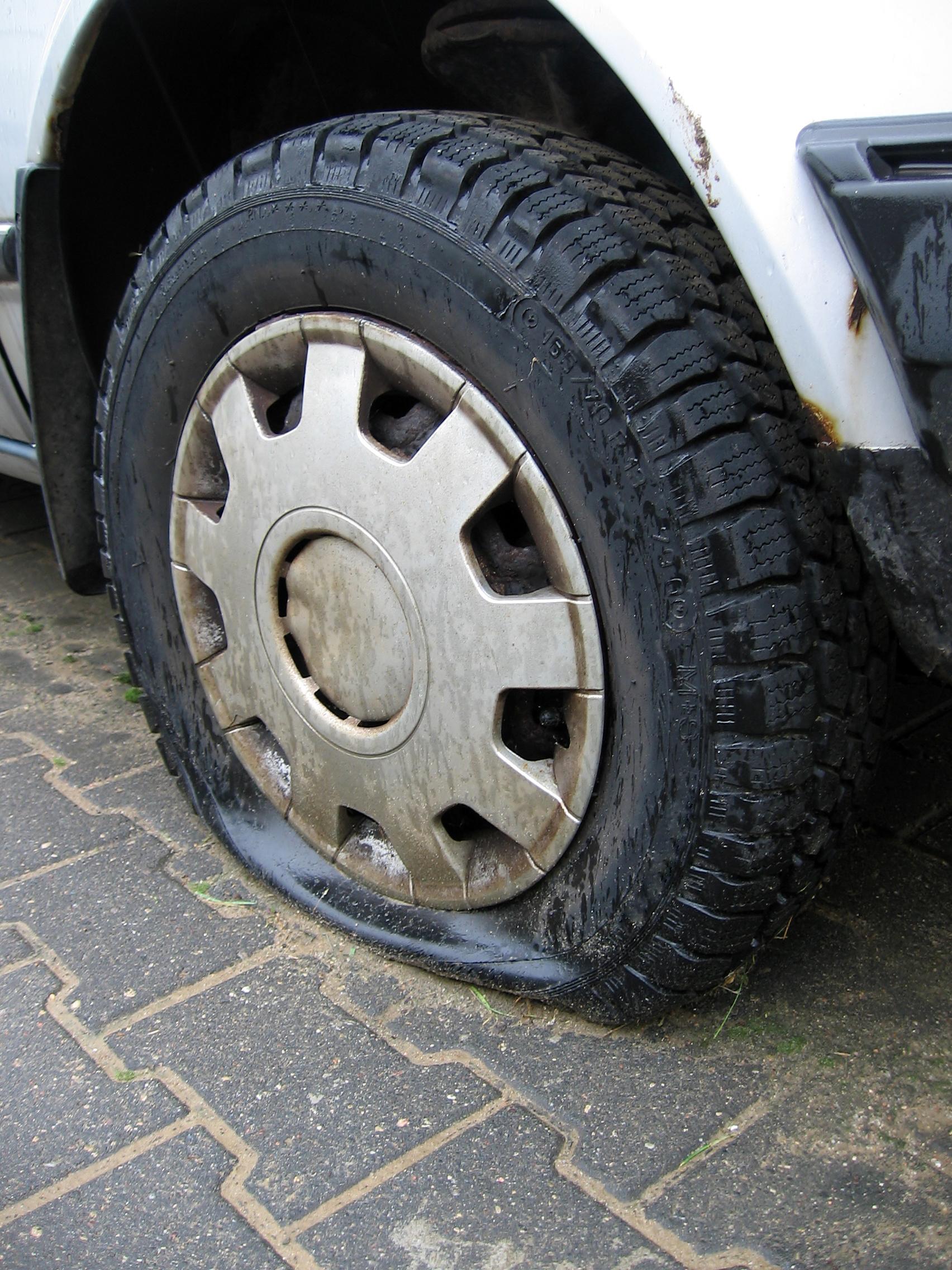 Deflated Tire||||