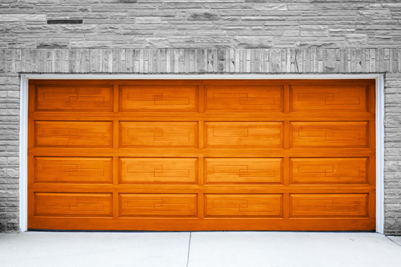 Wooden garage door||||