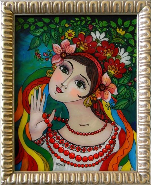 """Ukrainian Girl"" by Nataliya Guchenia  Size - 10""H X 8""W $175.00"