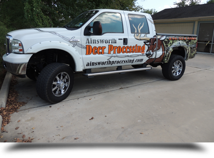 Ainsworth Quality Deer Processing truck||||