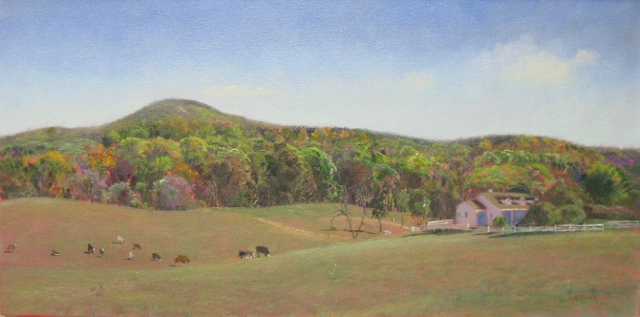 42. Sugarloaf, Home on the Range, 12x24 oil on canvas