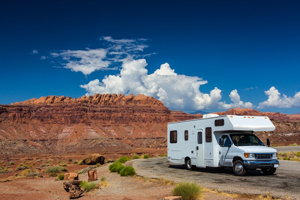 RV in the Grand Canyon