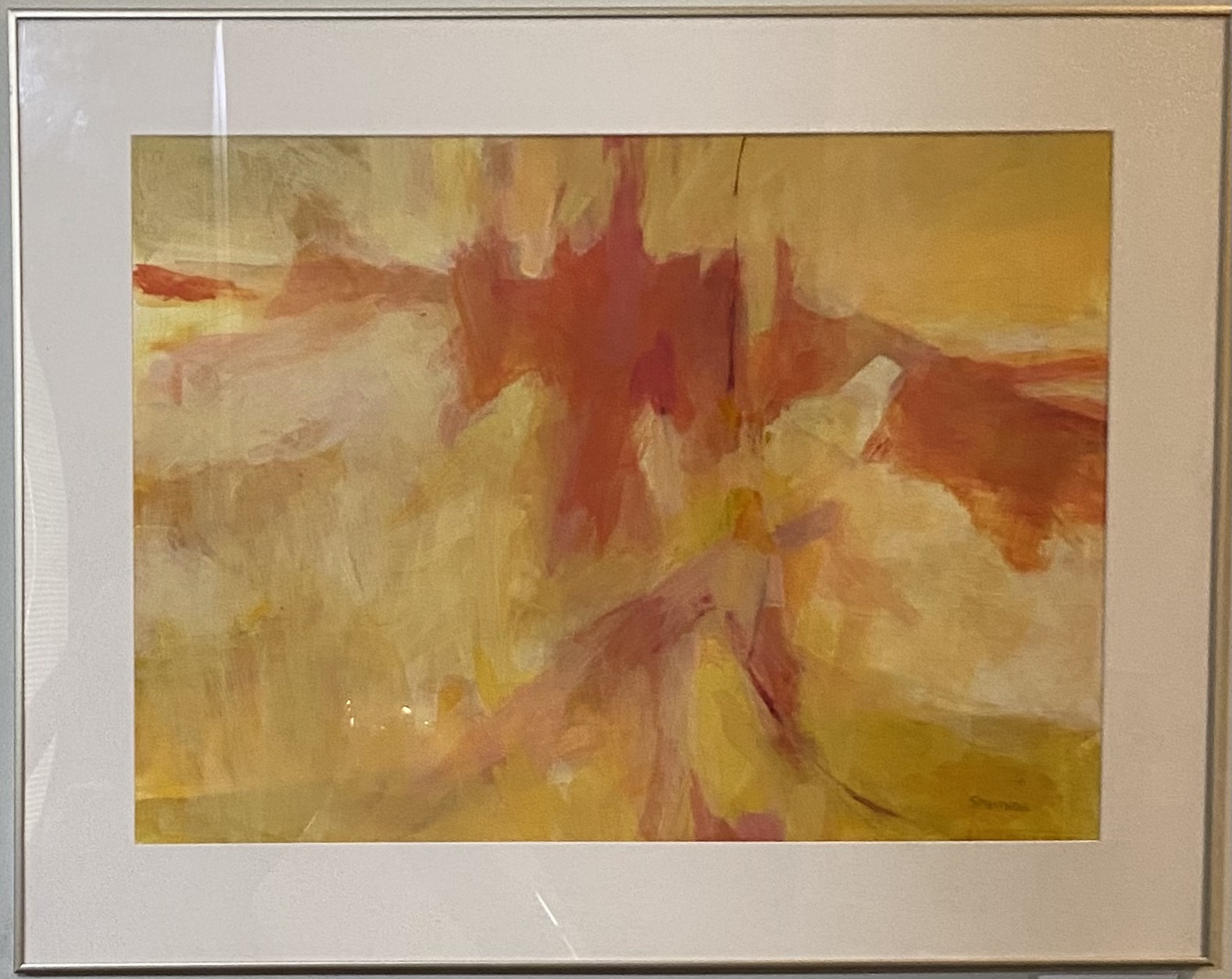 """A Yellow Day Watercolor 29"""" X 21"""" $500."""