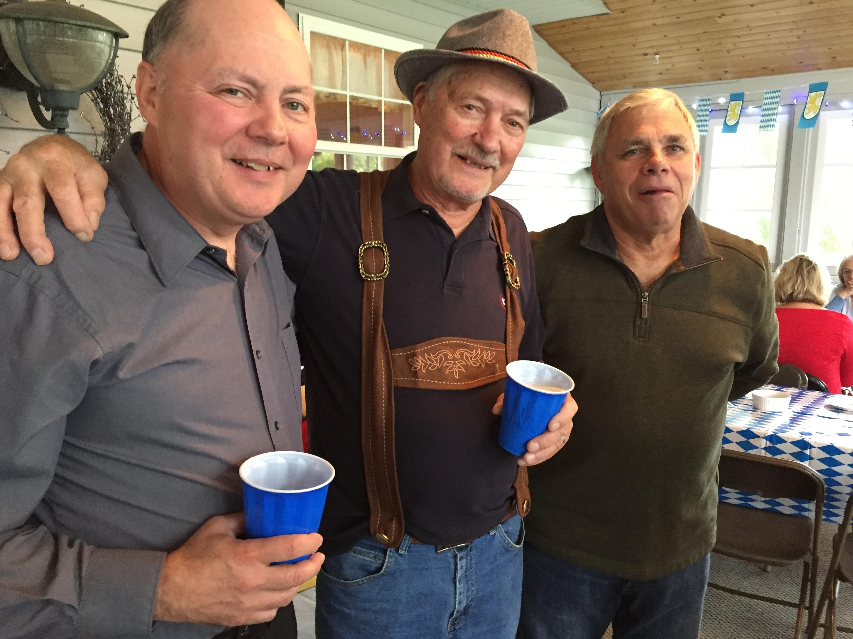 Rich Raclawski, Dad (Richard C. Raclawski) and cousin Jim Gordon Dad's 80th birthday party