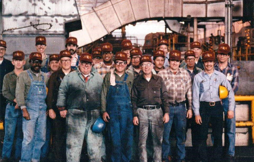Steelworkers Pose for a Photo