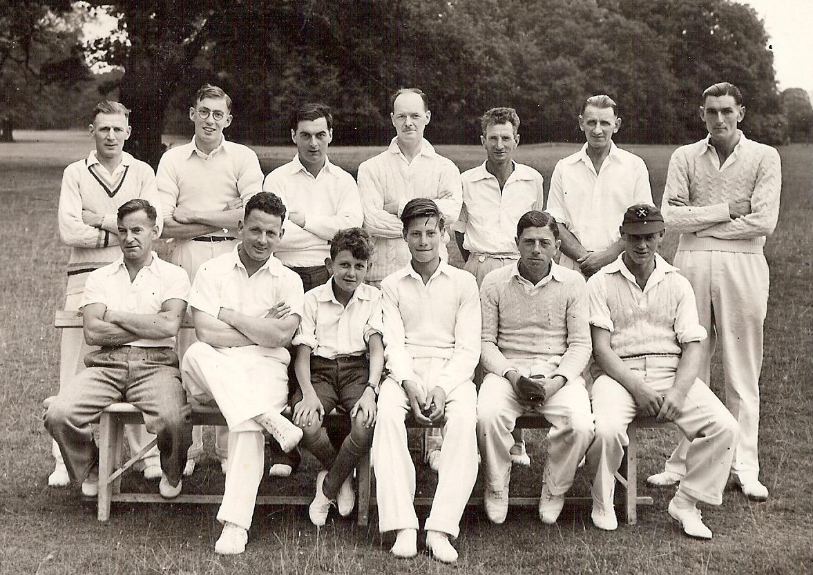 Cavenham Cricket Team circa 1952. Their home was in Cavenham Park.