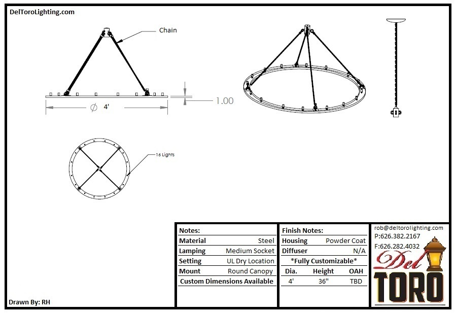 955P-Flat Ring Pendant