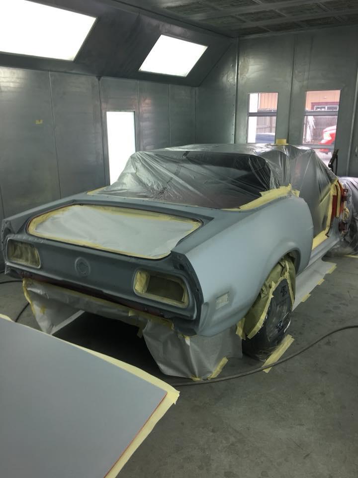 Vintage Car in the Shop