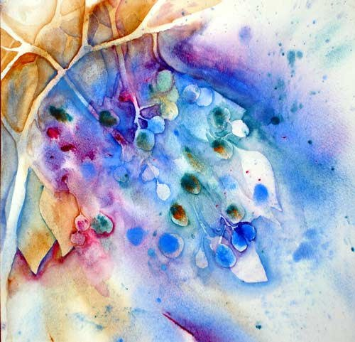 A Splash of Blueberries ..... Watercolour