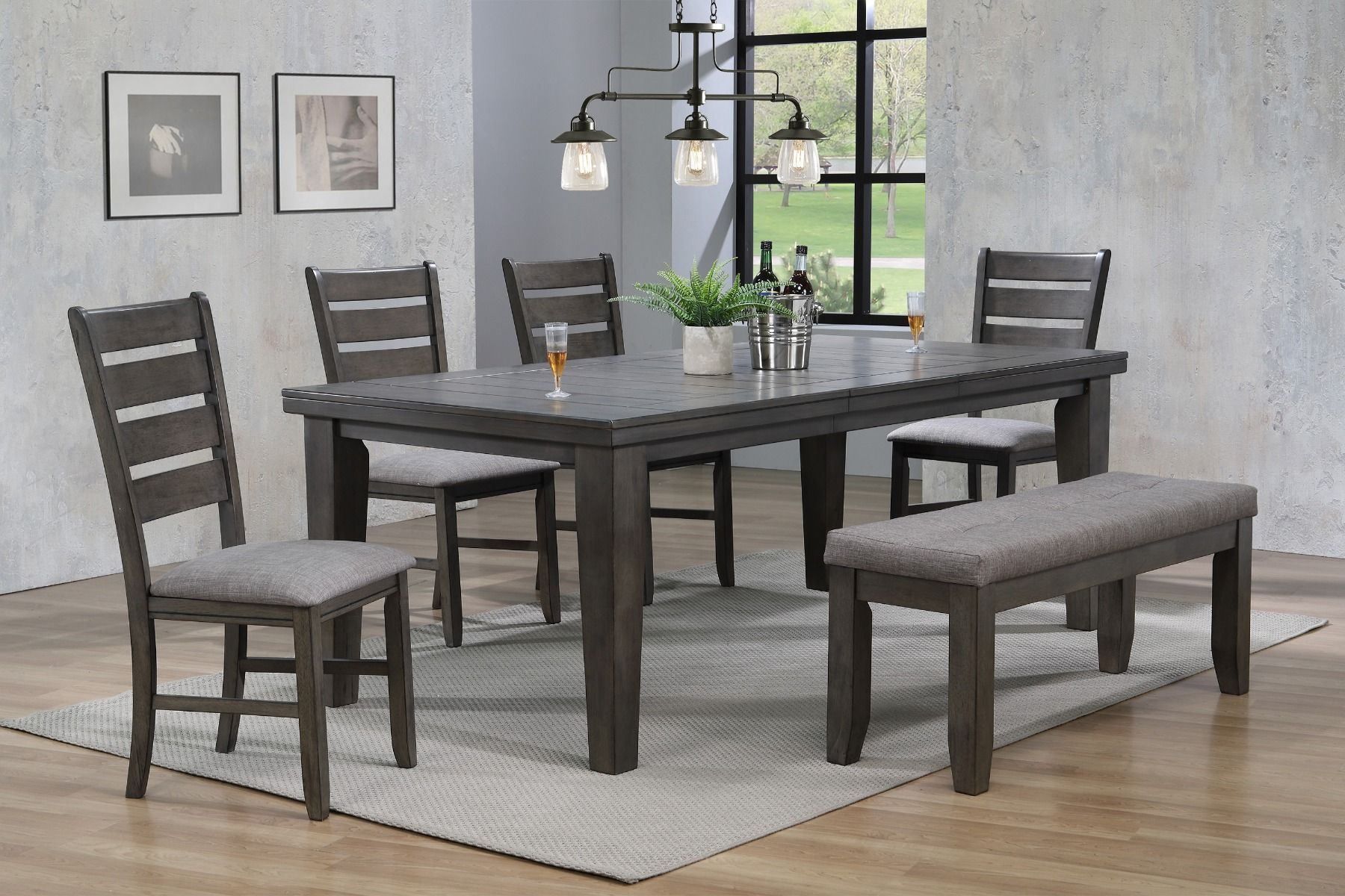 2152GY-T-4282 Dining Set