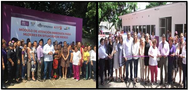 El día de ayer 22 de agosto participamos en la Inauracion del Módulo de Atención Inmediata  para Mujeres en Situación de Riesgo.