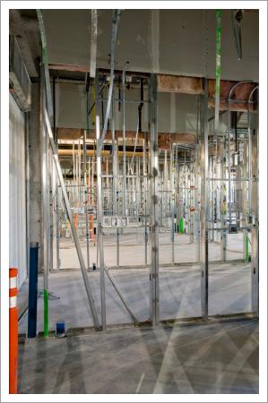 Rough plumbing and steel stud framing||||