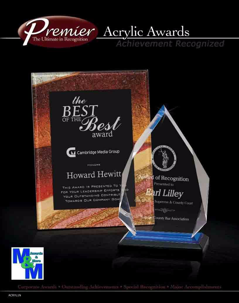 Premier Acrylic Awards Click for catalog