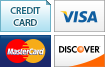 We accept Credit Cards, Visa, MasterCard and Discover.||||