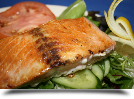 Salmon fillet salad||||