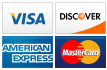 We accept Visa, Discover, American Express and MasterCard.||||