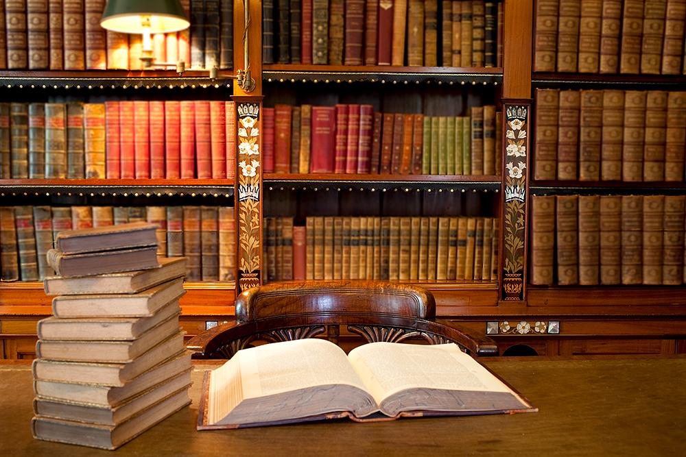 Law books on desk||||