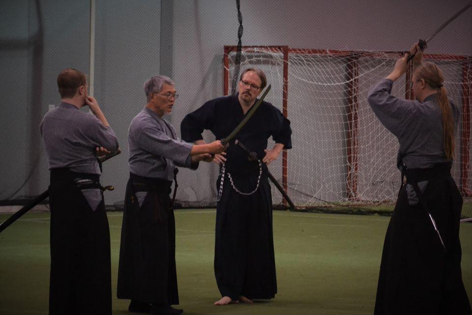 Pre-taikai training with Nomura Sensei.