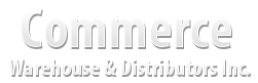 Commerce Warehouse and Distributors Inc. in Anderson, SC is a warehousing and distribution company.
